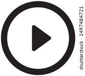black music play icon button...