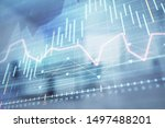 stock market chart with trading ... | Shutterstock . vector #1497488201
