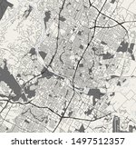 vector map of the city of... | Shutterstock .eps vector #1497512357