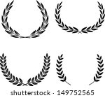 vector laurel wreaths | Shutterstock .eps vector #149752565