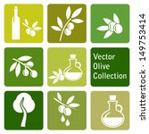 vector collection  olive icons | Shutterstock .eps vector #149753414