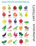 vector collection  fruits and... | Shutterstock .eps vector #149753471