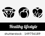 healthy lifestyle over white... | Shutterstock .eps vector #149756189