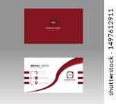 custom business cards vector... | Shutterstock .eps vector #1497612911