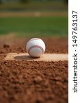 baseball on the pitchers mound... | Shutterstock . vector #149763137