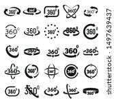 360 degrees icons set. simple... | Shutterstock .eps vector #1497639437