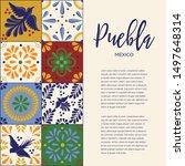 mexican traditional talavera...   Shutterstock .eps vector #1497648314
