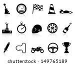 motor race icons set | Shutterstock .eps vector #149765189