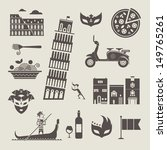 italy icons | Shutterstock .eps vector #149765261
