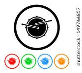 snare drum icon in vector... | Shutterstock .eps vector #149766857