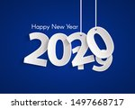 blue happy new year 2020...   Shutterstock .eps vector #1497668717