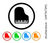 piano icon in vector format... | Shutterstock .eps vector #149767391