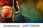 basketball player against... | Shutterstock . vector #1497739244
