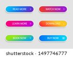 set of trendy action button for ... | Shutterstock .eps vector #1497746777