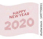2020 happy new year creative... | Shutterstock .eps vector #1497750011