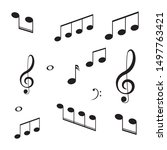 musical design element music... | Shutterstock .eps vector #1497763421