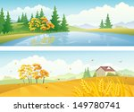 vector banners with beautiful... | Shutterstock .eps vector #149780741