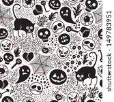 happy halloween  seamless... | Shutterstock .eps vector #149783951