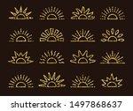 golden glitter sunrise   sunset ... | Shutterstock .eps vector #1497868637