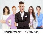 successful businessman leading... | Shutterstock . vector #149787734