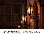 Old Fashioned Street Lamp At...