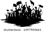silhouettes of people with... | Shutterstock .eps vector #1497904661