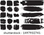 set of black brush strokes with ... | Shutterstock .eps vector #1497932741