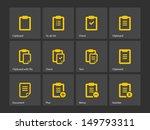 clipboard icons. vector...