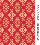 Red Rococo Pattern