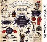 halloween  vector set ... | Shutterstock .eps vector #149798351