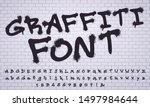 spray graffiti font. city... | Shutterstock .eps vector #1497984644