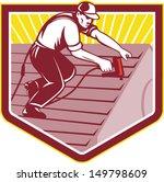 illustration of a roofer...