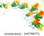 colorful watercolor painted...   Shutterstock . vector #149798771