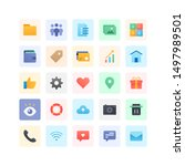 miscellaneous icon collection...   Shutterstock .eps vector #1497989501