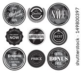 retro vintage badges and labels ... | Shutterstock .eps vector #149800397