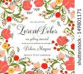 wedding invitation card | Shutterstock .eps vector #149801171