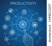 productivity concept  blue...