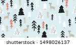 childish seamless pattern with... | Shutterstock .eps vector #1498026137