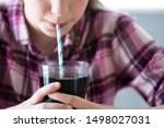 close up of girl drinking... | Shutterstock . vector #1498027031