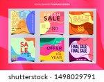 social media templates modern...   Shutterstock .eps vector #1498029791