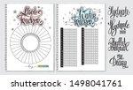 water tracker. mood tracker... | Shutterstock .eps vector #1498041761