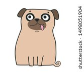 cute vector cartoon... | Shutterstock .eps vector #1498051904