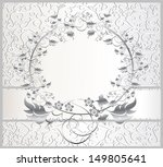 vintage seamless wallpaper with ... | Shutterstock . vector #149805641
