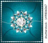 stylish vector rakhi background ... | Shutterstock .eps vector #149806067