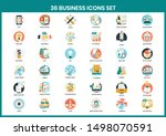 business icons set for business ... | Shutterstock .eps vector #1498070591