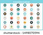 business icons set for business ... | Shutterstock .eps vector #1498070594