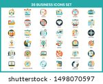 business icons set for business ... | Shutterstock .eps vector #1498070597