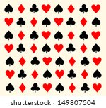 background with play card signs | Shutterstock . vector #149807504