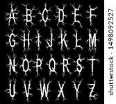 metal music band's font.white...   Shutterstock .eps vector #1498092527