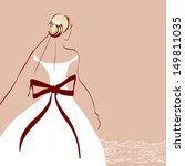 beautiful woman wedding design   Shutterstock .eps vector #149811035